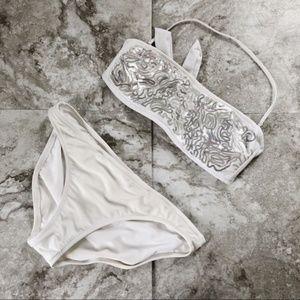 Xhilaration White Sequin Bikini